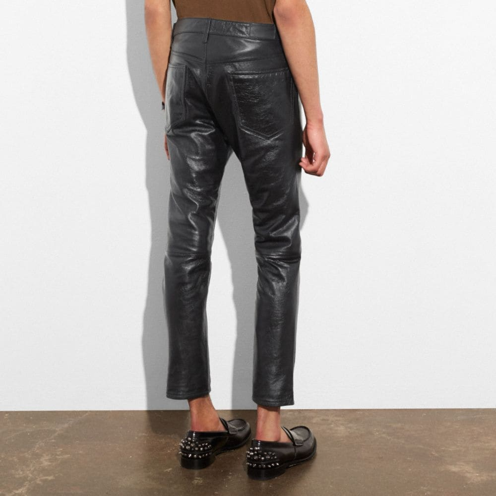 Coach Leather Jeans Alternate View 2
