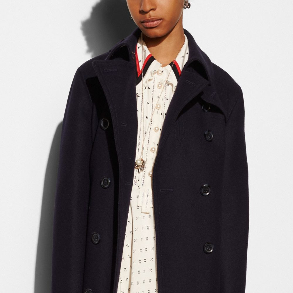 Classic Wool Trench - Alternate View M1