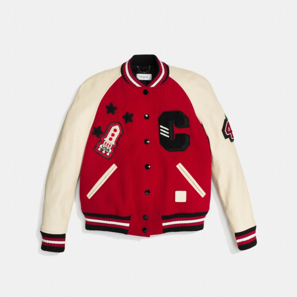 Coach Classic Varsity Jacket Alternate View 1