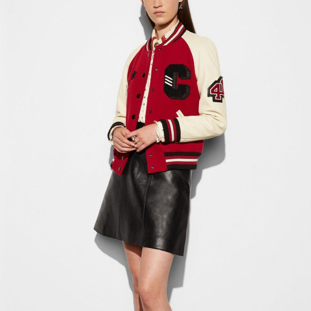 Coach Classic Varsity Jacket Alternate View 2