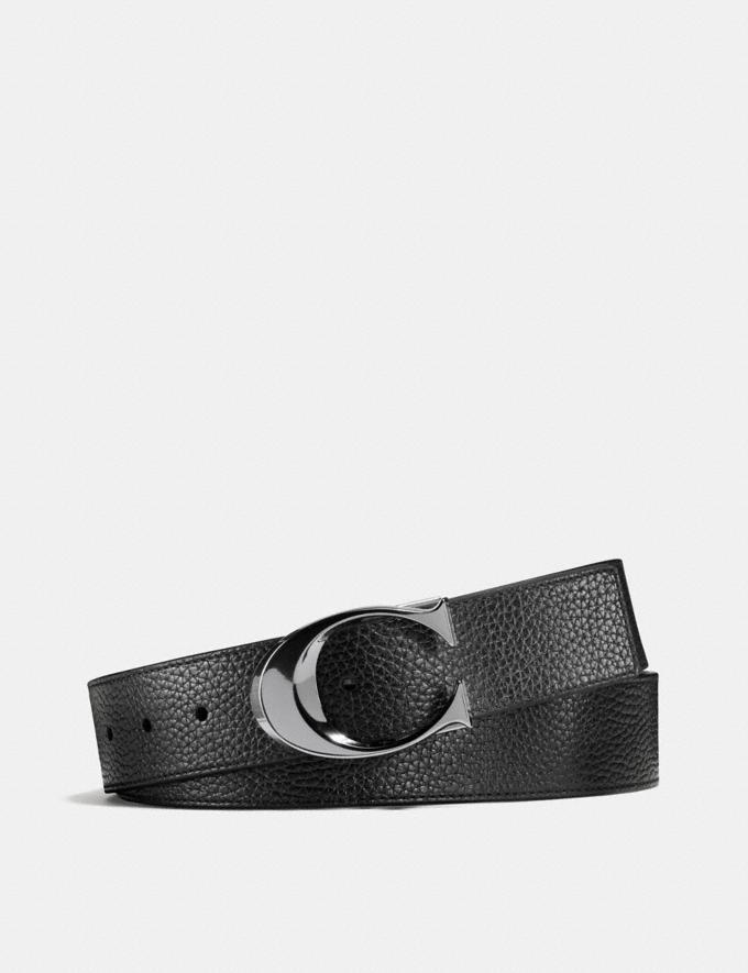 Coach Sculpted C Cut-To-Size Reversible Belt Black Men Accessories Belts