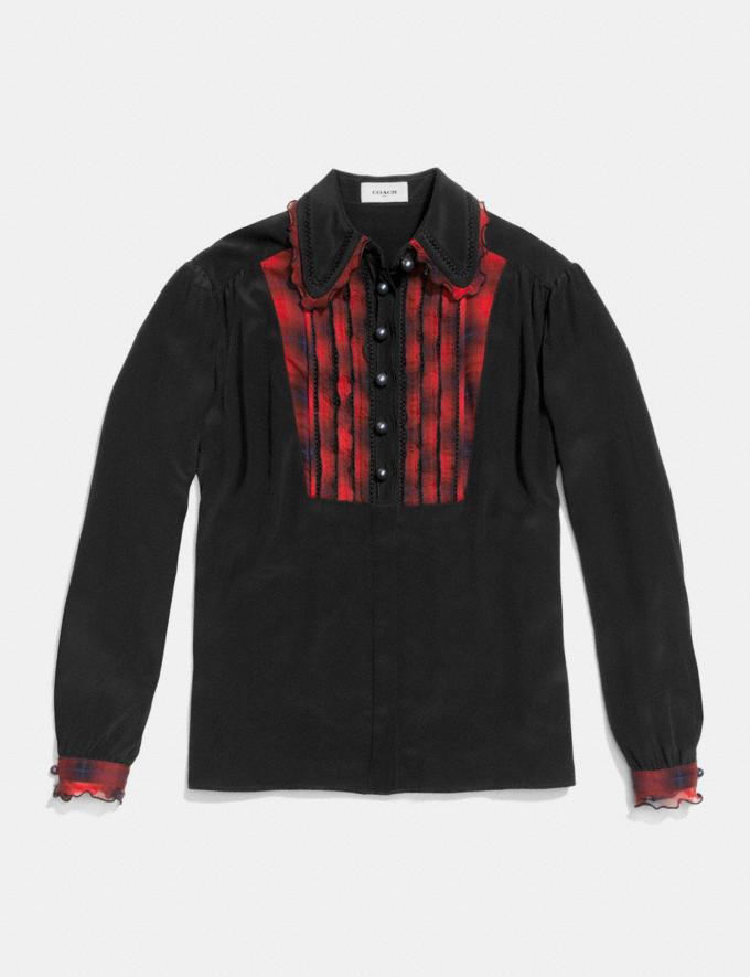 Coach Shirt With Bib  Black Women Ready-to-Wear Tops Alternate View 1