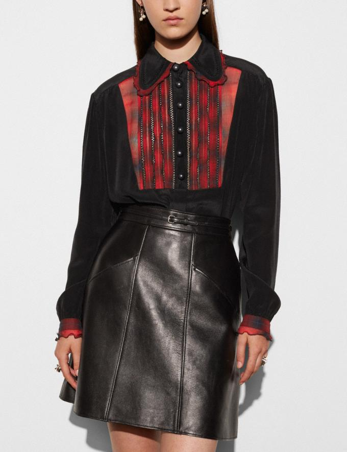 Coach Shirt With Bib  Black Women Ready-to-Wear Tops Alternate View 2