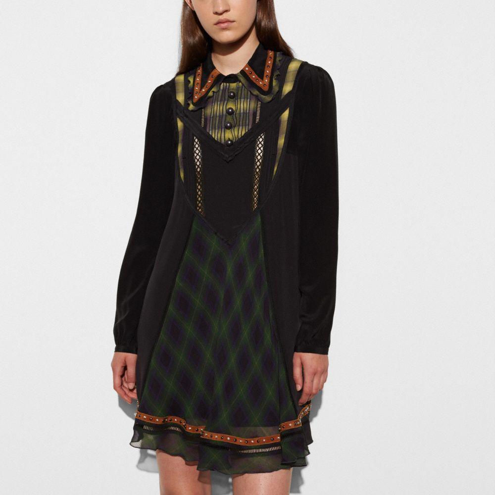 Stud Collar Dress - Alternate View M
