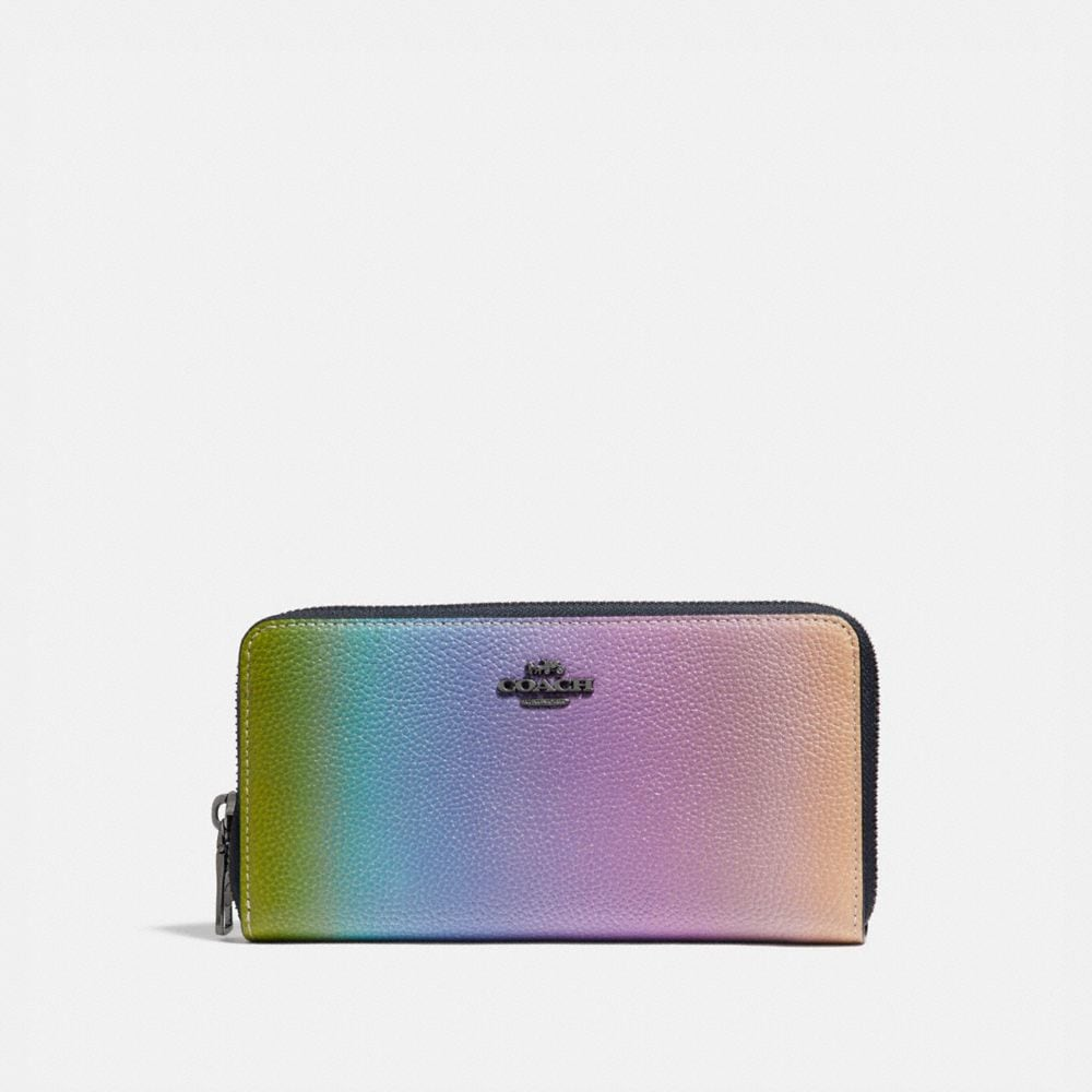 Coach Accordion Zip Wallet With Ombre