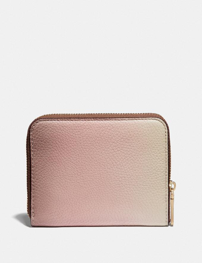 Coach Small Zip Around Wallet With Ombre Pink Multi/Gold New Women's New Arrivals Small Leather Goods Alternate View 1