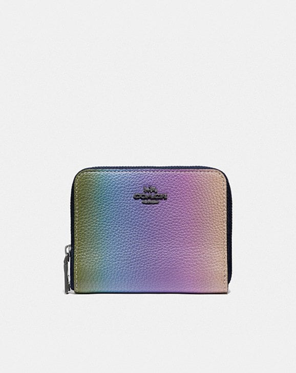 Coach SMALL ZIP AROUND WALLET WITH OMBRE