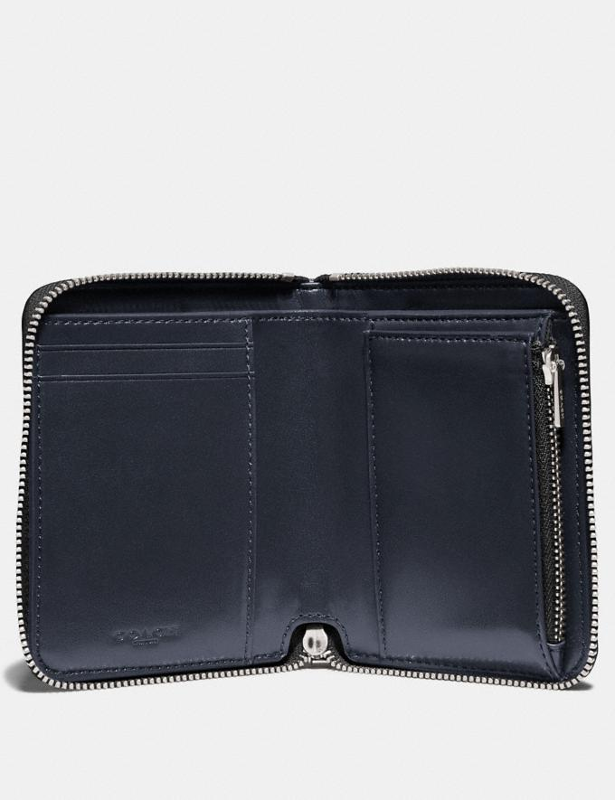 Coach Small Zip Around Wallet With Ombre Blue Multi/Silver Women Small Leather Goods Small Wallets Alternate View 2