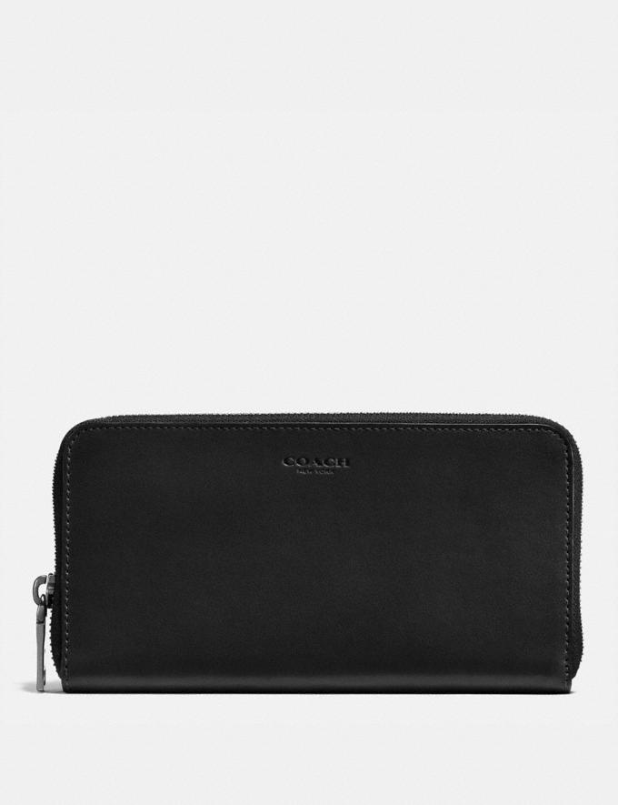 Coach Accordion Wallet Black