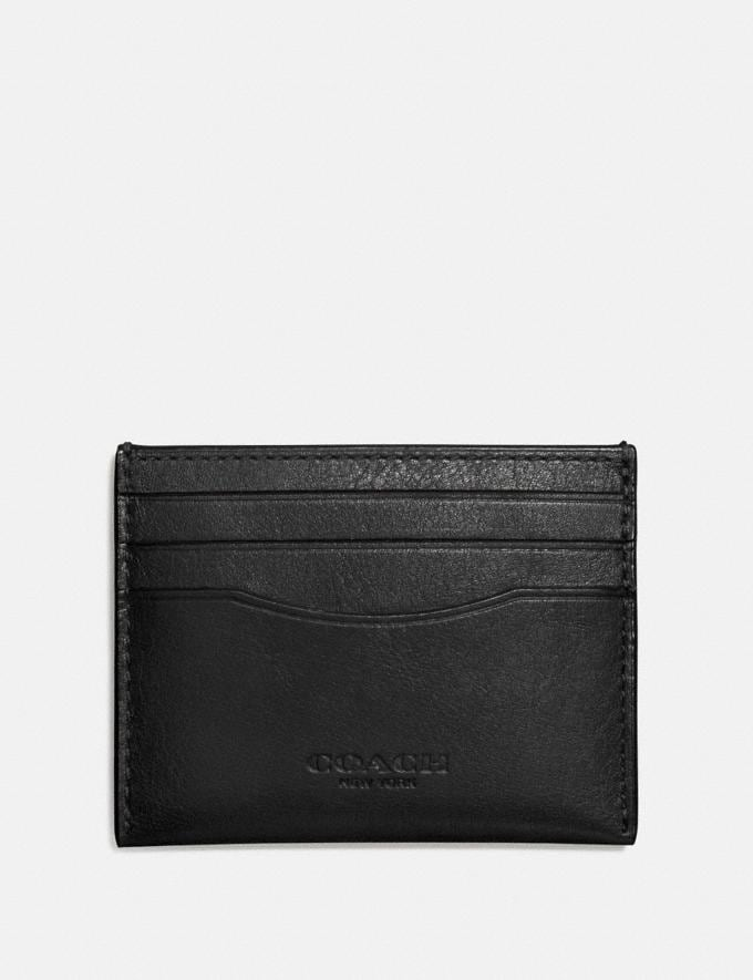 Coach Card Case Black Men Wallets