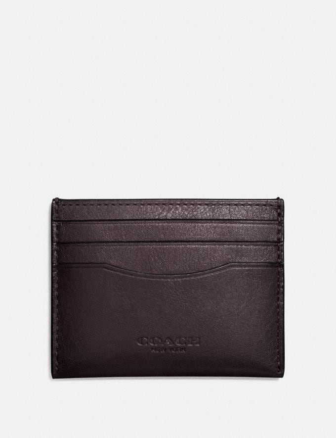 Coach Card Case Chestnut Men Wallet Guide