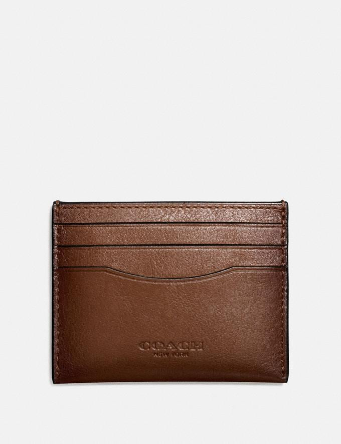 Coach Card Case Dark Saddle New Men's New Arrivals Wallets