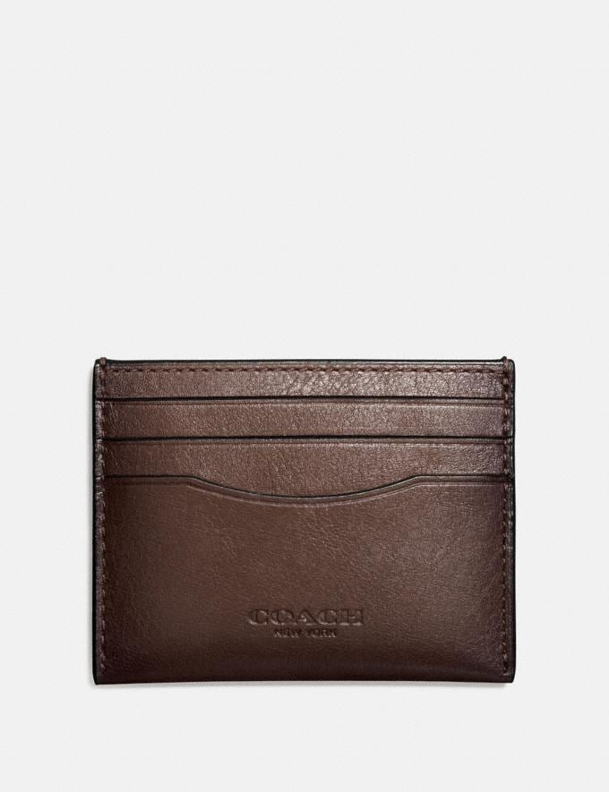 Coach Card Case Mahogany Men Accessories
