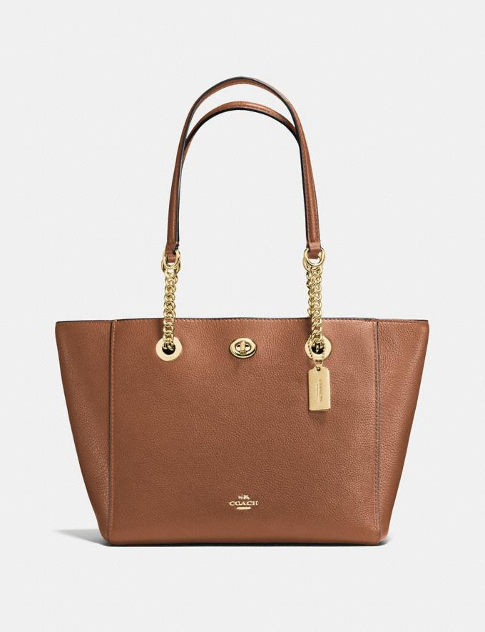 Coach Turnlock Chain Tote 27 1941 Saddle SALE Women's Sale Further Reductions Bestsellers