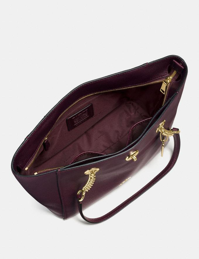 Coach Turnlock Chain Tote 27 Oxblood/Light Gold New Featured Online-Only Alternate View 2