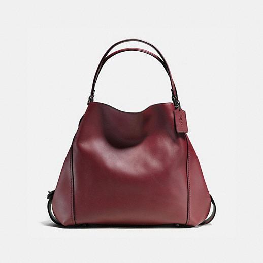 48d2d5ad9d0 ... Coach Edie Shoulder Bag Review Edie Shoulder Bag 42 in Glovetanned  Leather Coach Nomad Hobo ...