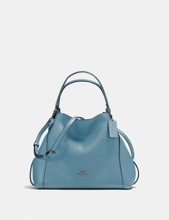 Coach Edie Shoulder Bag 28 Blue New Featured Online-Only
