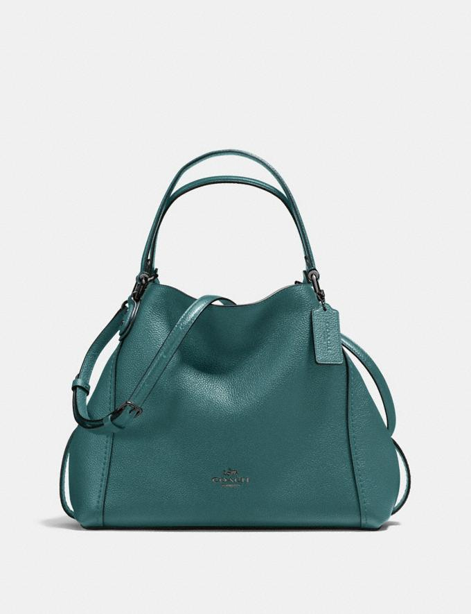Coach Edie Shoulder Bag 28 Dark Turquoise/Gunmetal New Featured Online Exclusives