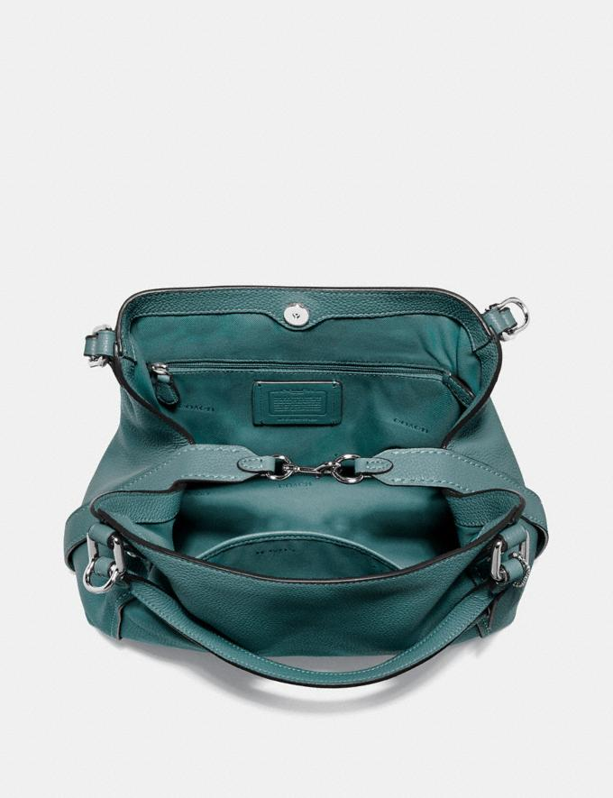 Coach Edie Shoulder Bag 28 Dark Turquoise/Gunmetal New Featured Online Exclusives Alternate View 2
