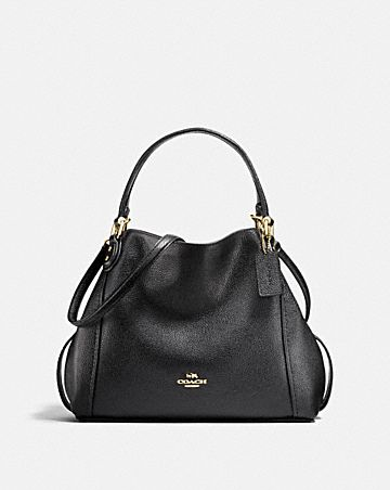 Coach Woman Chain-trimmed Leather Shoulder Bag Black Size Coach kIkvYghv