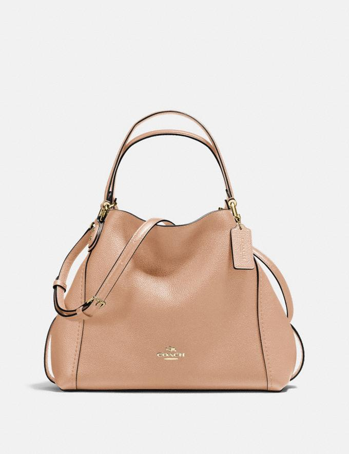 Coach Edie Shoulder Bag 28 Beechwood/Light Gold New Featured Online Exclusives