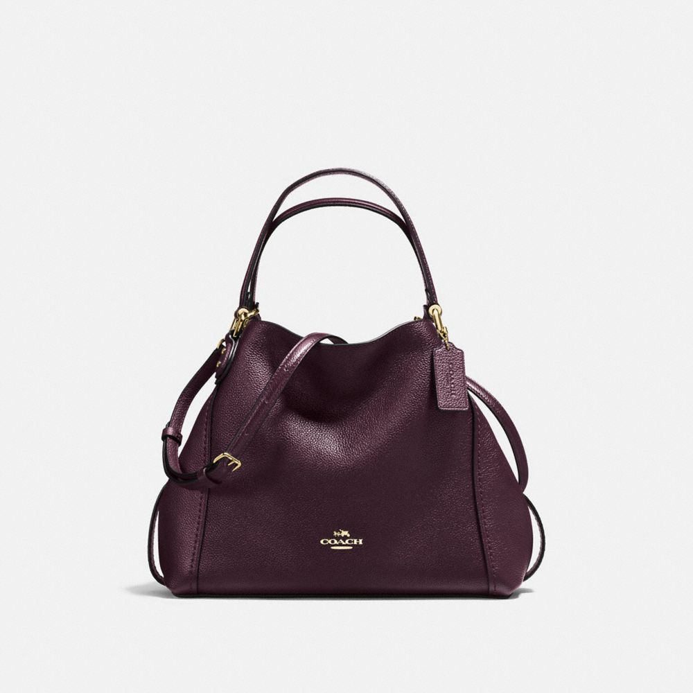 Coach Edie Shoulder Bag 28 In Polished Pebble Leather