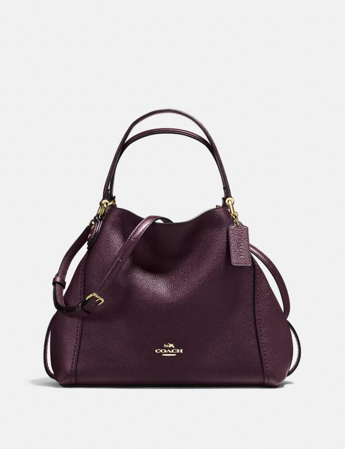 9eff1a952 Coach Edie Shoulder Bag 28 Oxblood/Light Gold SALE Women's Sale Bags