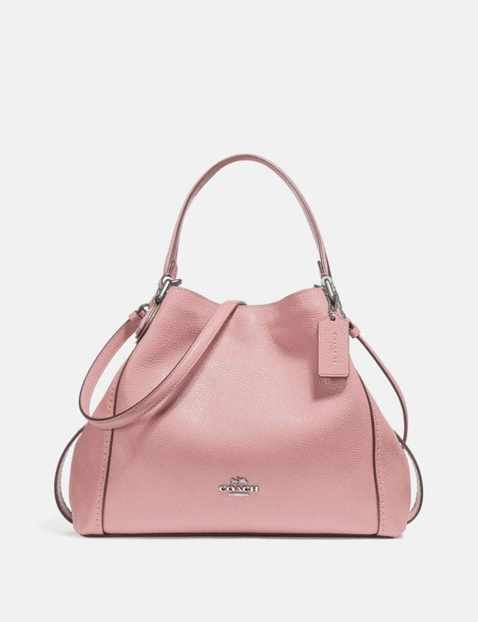 Coach Edie Shoulder Bag 28 Blossom/Silver New Featured Online-Only