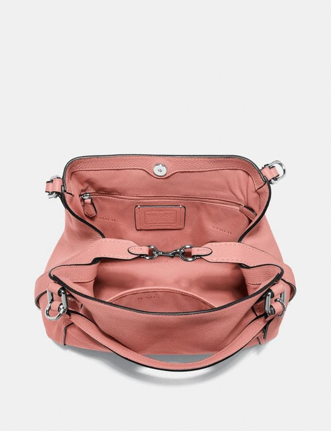 Coach Edie Shoulder Bag 28 Bright Coral/Silver New Featured Online Exclusives Alternate View 2