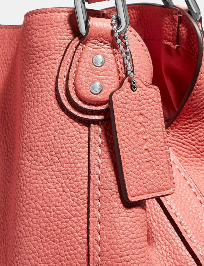 Coach Edie Shoulder Bag 28 Bright Coral/Silver New Featured Online Exclusives Alternate View 4