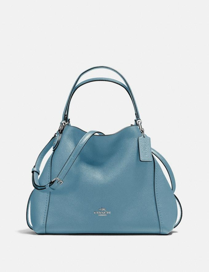 Coach Edie Shoulder Bag 28 Slate/Silver New Featured Online Exclusives