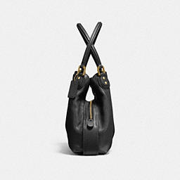 COACH: Edie Shoulder Bag 31 In Polished Pebble Leather