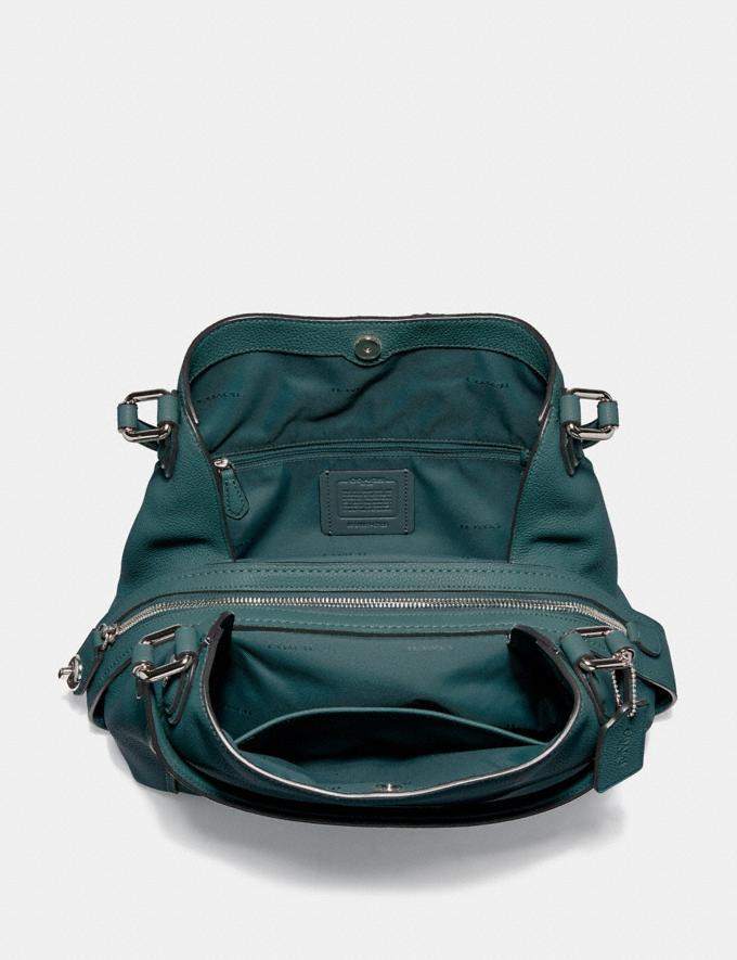 Coach Edie Shoulder Bag 31 Dark Turquoise/Gunmetal SALE Women's Sale Alternate View 3