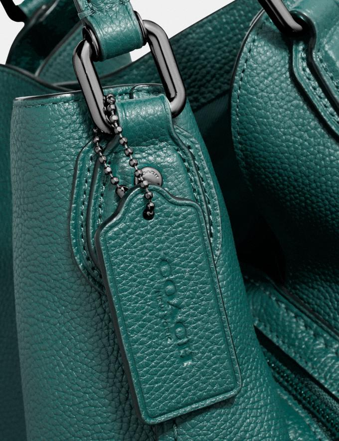 Coach Edie Shoulder Bag 31 Dark Turquoise/Gunmetal SALE Women's Sale Alternate View 5