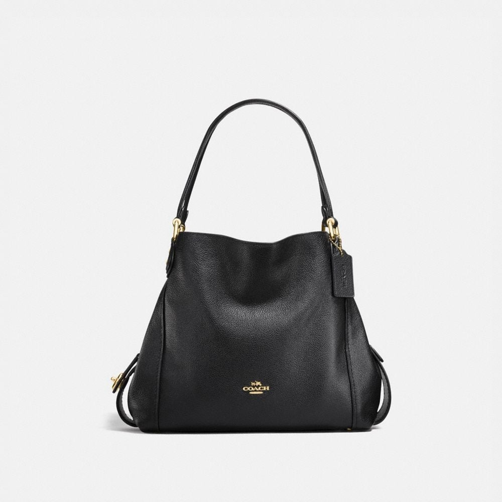 EDIE SHOULDER BAG 31 IN POLISHED PEBBLE LEATHER