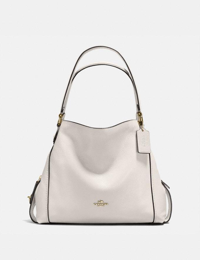 Coach Edie Shoulder Bag 31 Chalk/Light Gold Women Bags View All
