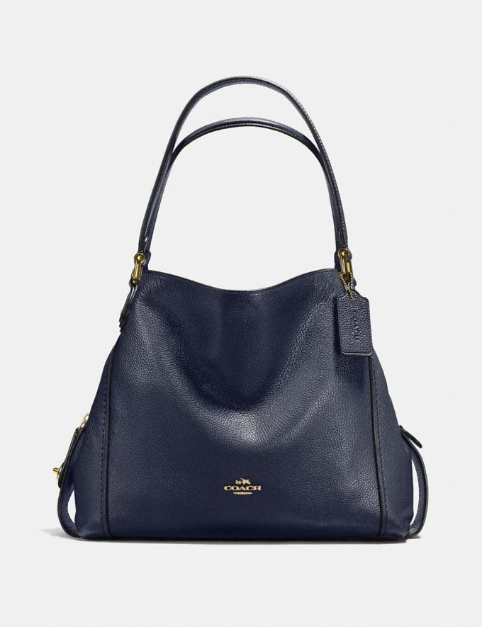 Coach Edie Shoulder Bag 31 Li/Navy Gifts For Her Luxe Gifts
