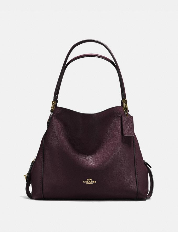 Coach Edie Shoulder Bag 31 Oxblood/Light Gold New Featured Hello, Spring