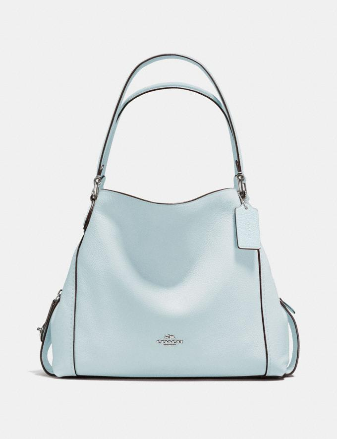 Coach Edie Shoulder Bag 31 Sky/Silver Personalise Personalise It Monogram For Her