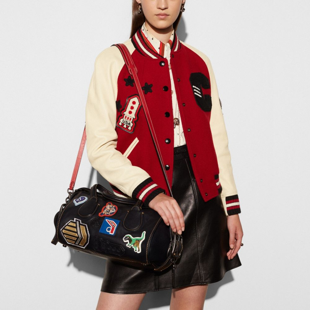 Varsity Patch Badlands Satchel in Glovetanned Leather - Alternate View A4