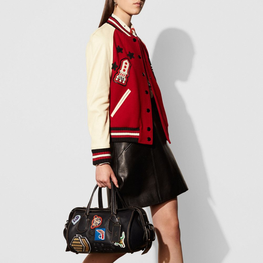 Varsity Patch Badlands Satchel in Glovetanned Leather - Alternate View A5