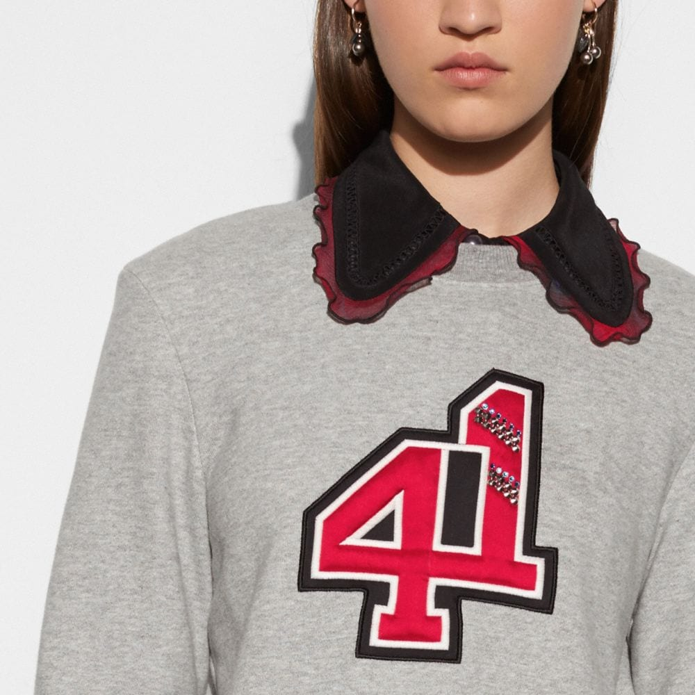 EMBELLISHED 41 SWEATSHIRT