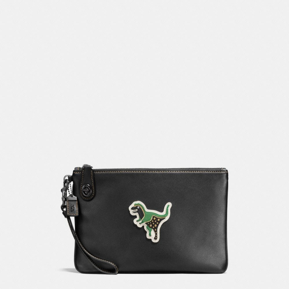 Coach Varsity Patches Turnlock Wristlet 26 in Glovetanned Leather