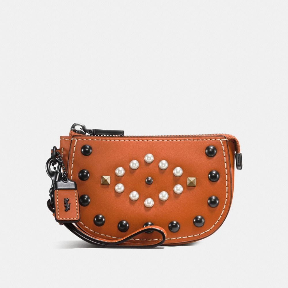 Coach Pouch With Western Rivets