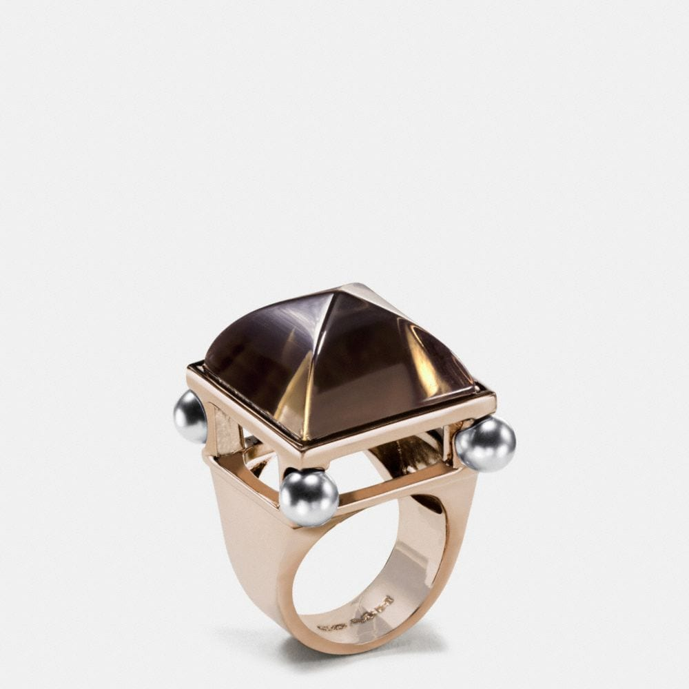 Coach Pearl Pyramid Ring