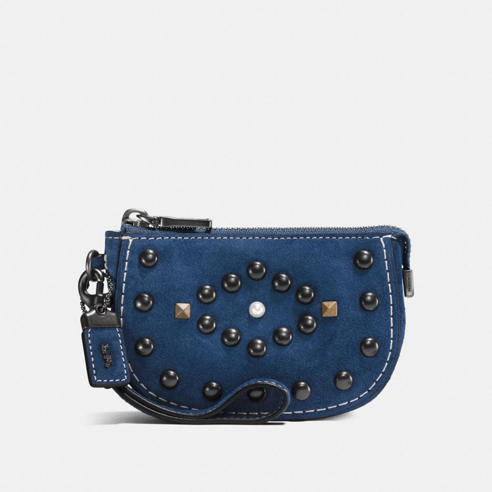 Western Rivets Pouch in Suede