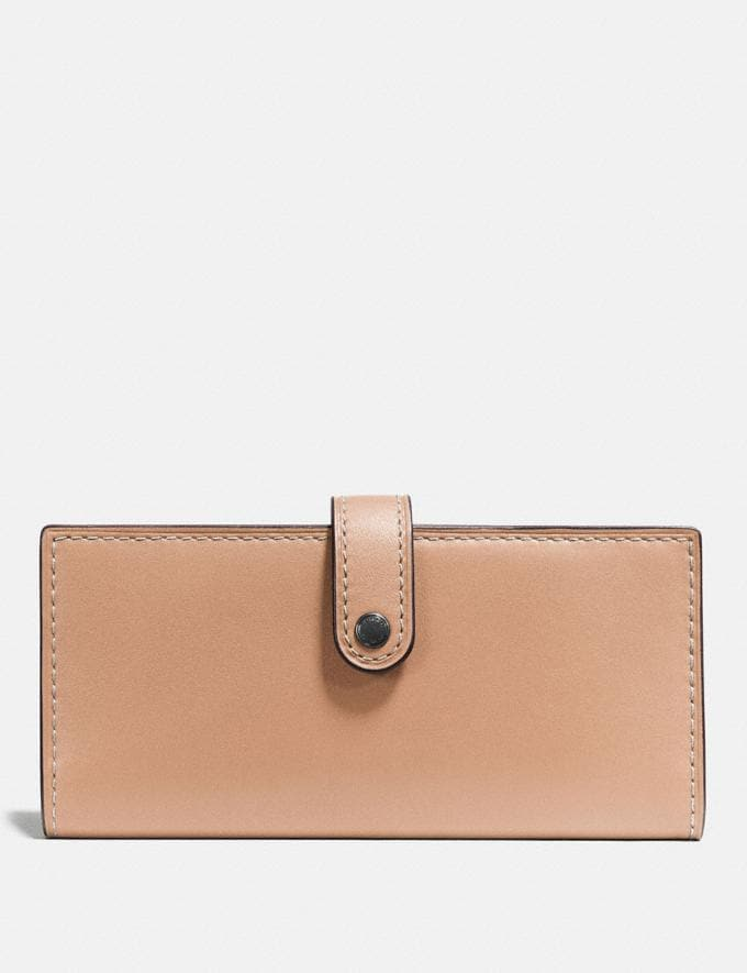 Coach Slim Trifold Wallet Bp/Heather Grey Gifts null A World of Gifts
