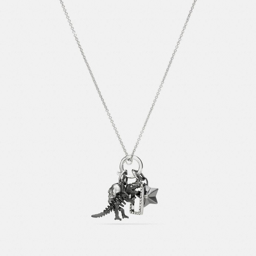 Coach Rexy Skull Charm Set Necklace