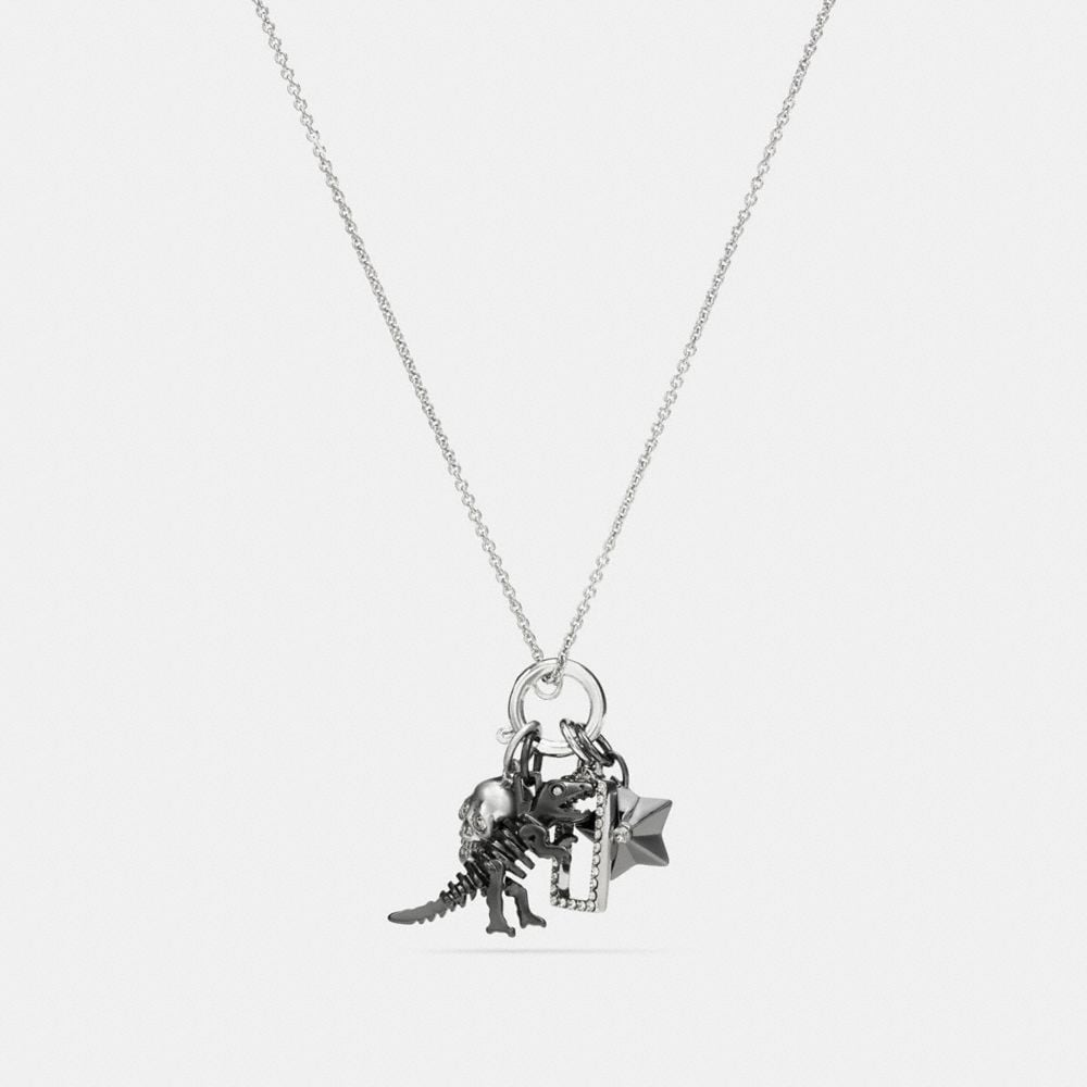 Coach Rexy Skull Charm Set Necklace