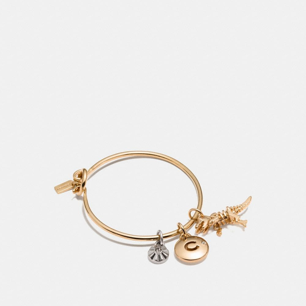 Coach Rexy Coach Disc Hoop Bangle Charm Set